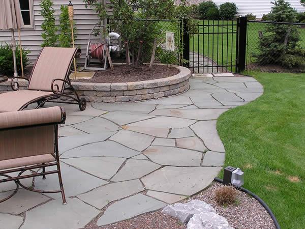 slate backyard patio ideas photo - 1