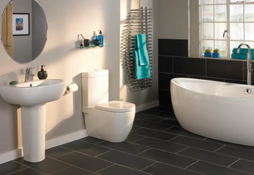 Tiling floors in bathrooms