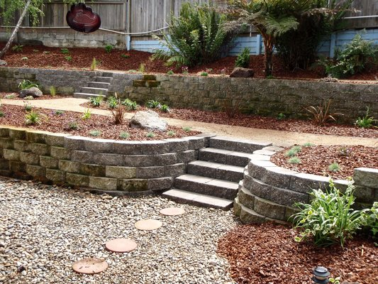 Sloped backyard landscaping large and beautiful photos for Large lot landscaping ideas
