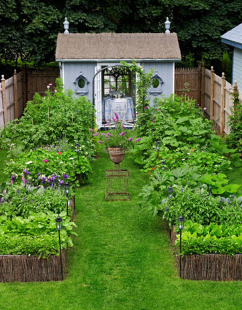 small backyard garden design photo - 1