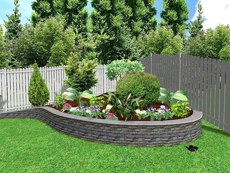 small backyard landscape photo - 1