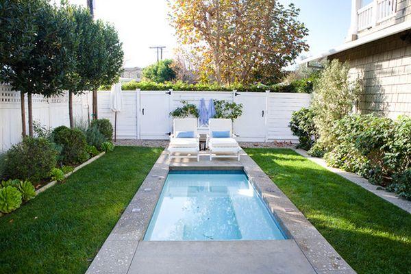 small backyard with pool photo - 1