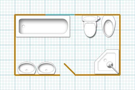 Fine Bathroom Floor Plan Design Program Floor Largest Home Design Picture Inspirations Pitcheantrous