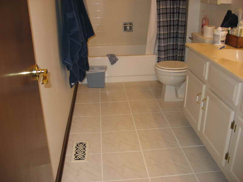 small bathroom tile floor ideas photo - 1