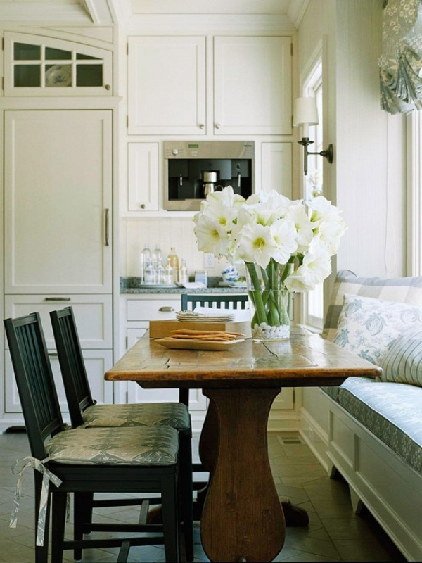 small bench table for kitchen photo - 2
