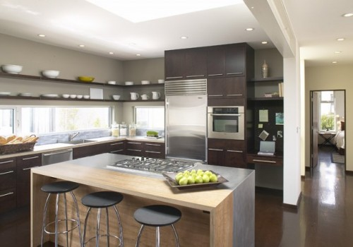 small contemporary kitchen photo - 2