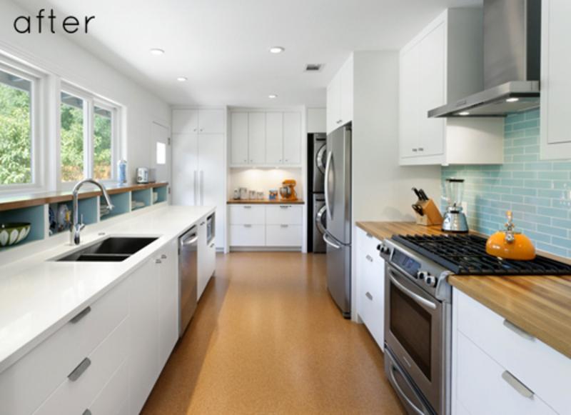 small galley kitchen design photo - 2