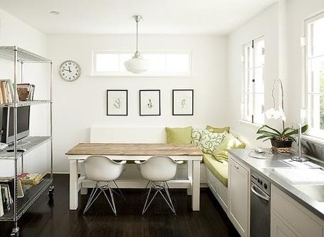 small kitchen banquette photo - 2