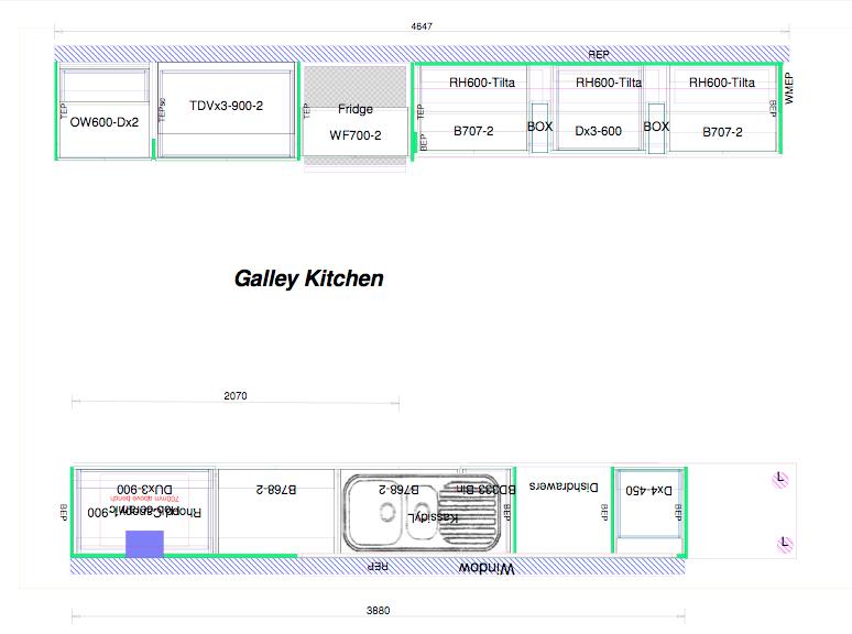 small kitchen design layout photo - 2