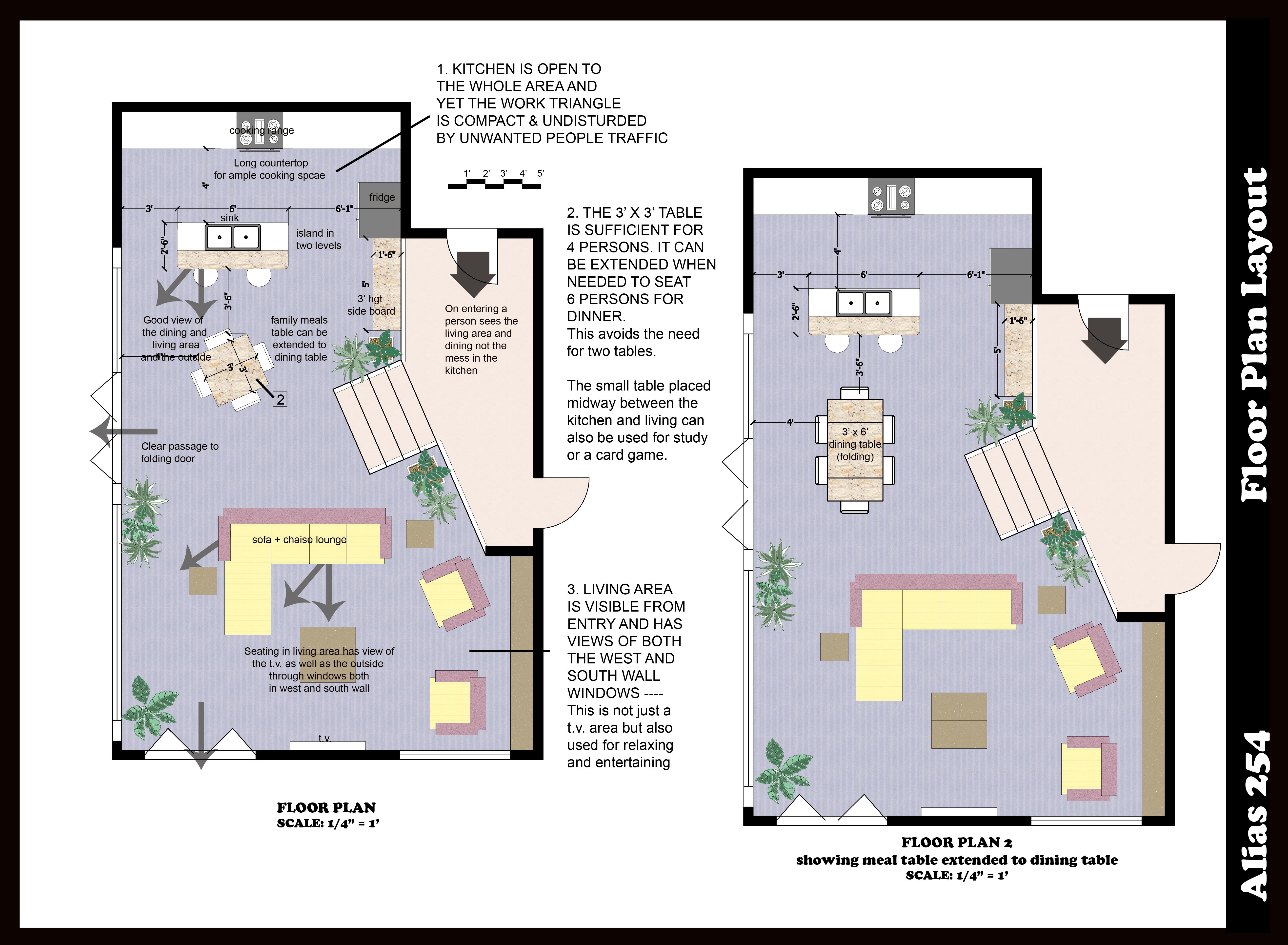 small kitchen floor plan photo - 1