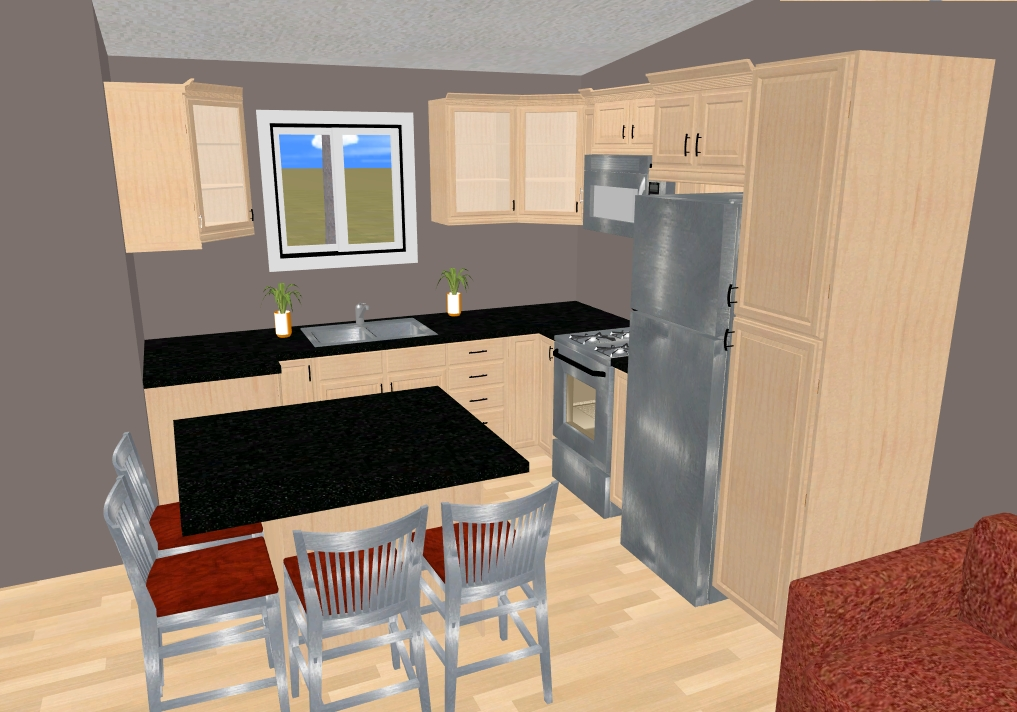 Small kitchen floor plan - large and beautiful photos. Photo to ...
