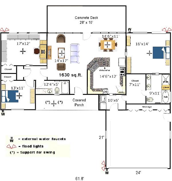 small kitchen floor plans photo - 1