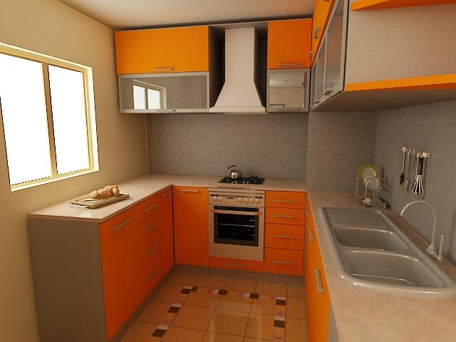 small kitchen interior design photo - 1