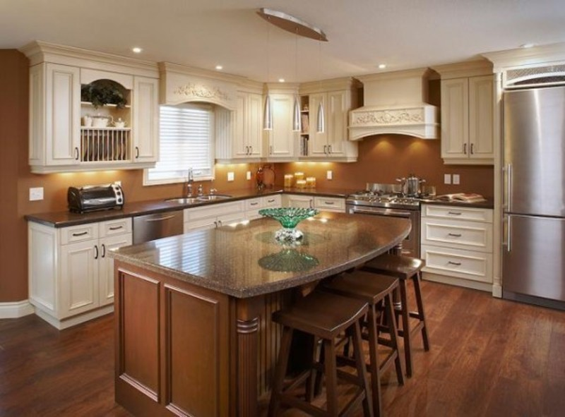 small kitchen island with seating photo - 2