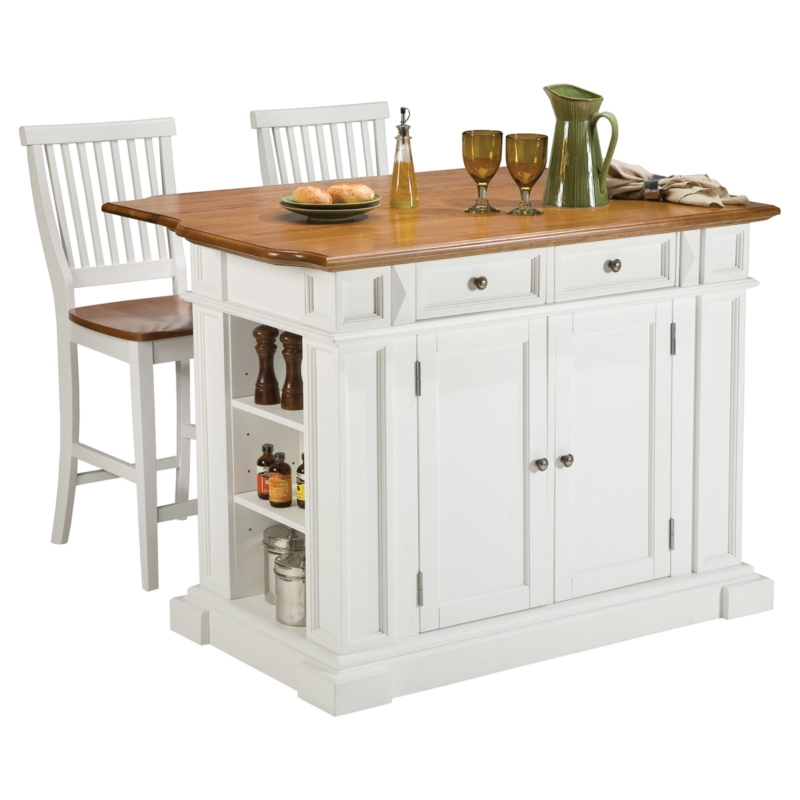 small kitchen island with stools photo - 1