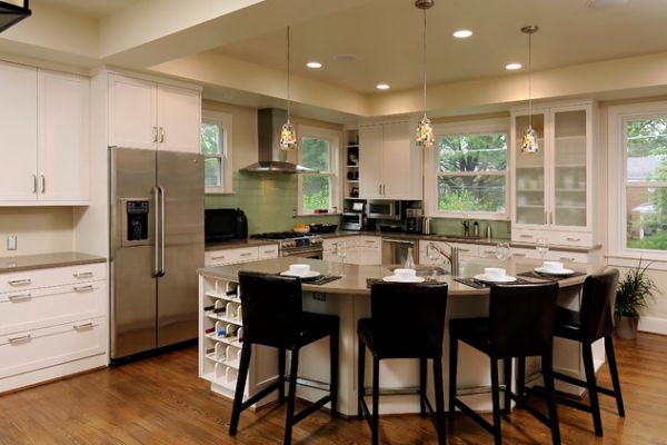 small kitchen islands with seating photo - 2