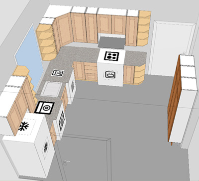 small kitchen layout planner photo - 2
