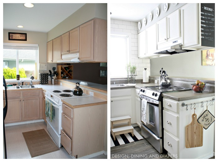 Small kitchen makeovers before and after - large and ...