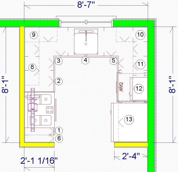 Small kitchen design plans layouts for Planning a kitchen layout