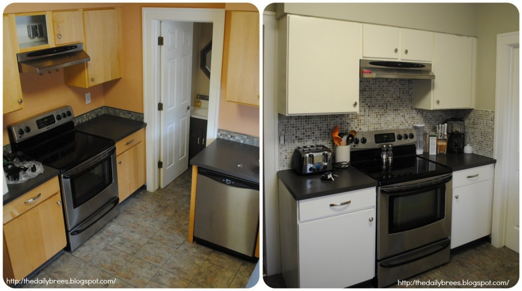 small kitchen remodel before and after photo - 1