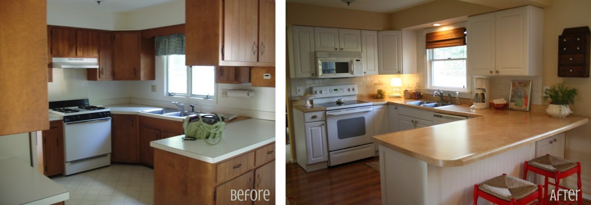 small kitchen remodel before and after pictures - large and
