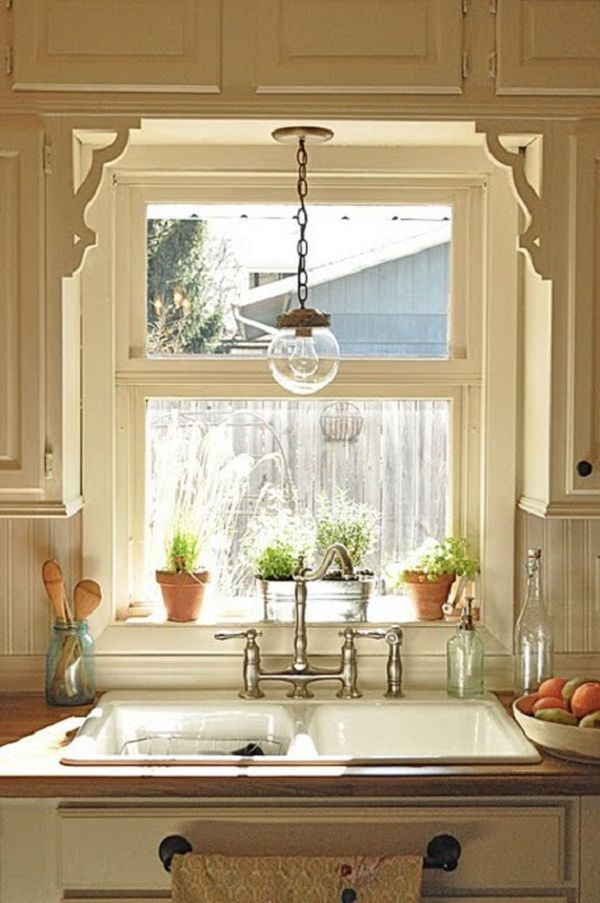 small kitchen window treatments photo - 2