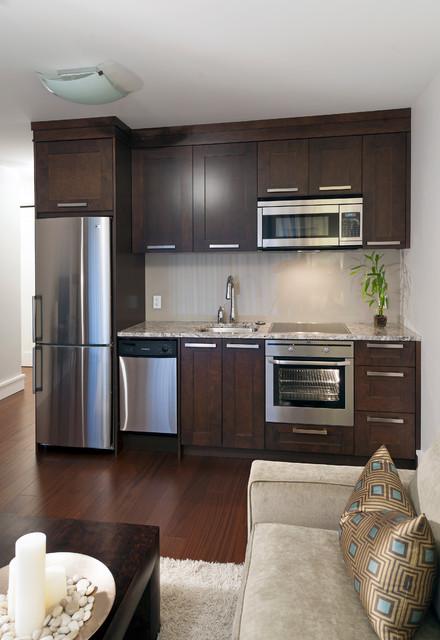 small kitchenette design photo - 2