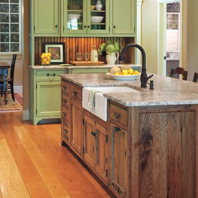 small kitchens with islands photo - 2