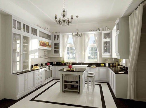 small kitchens with islands designs photo - 1