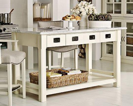 small movable kitchen island photo - 1