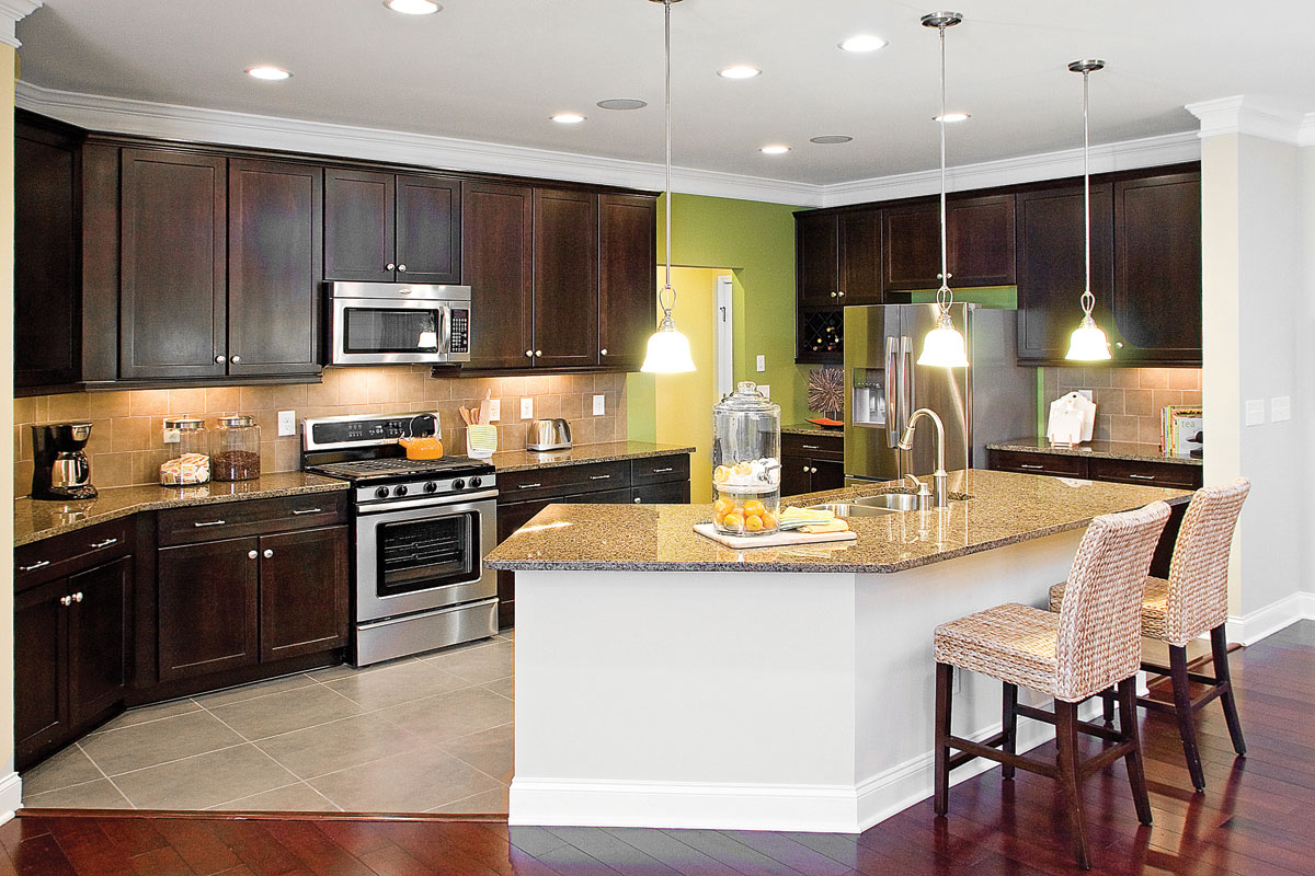 small open kitchen floor plans photo - 2