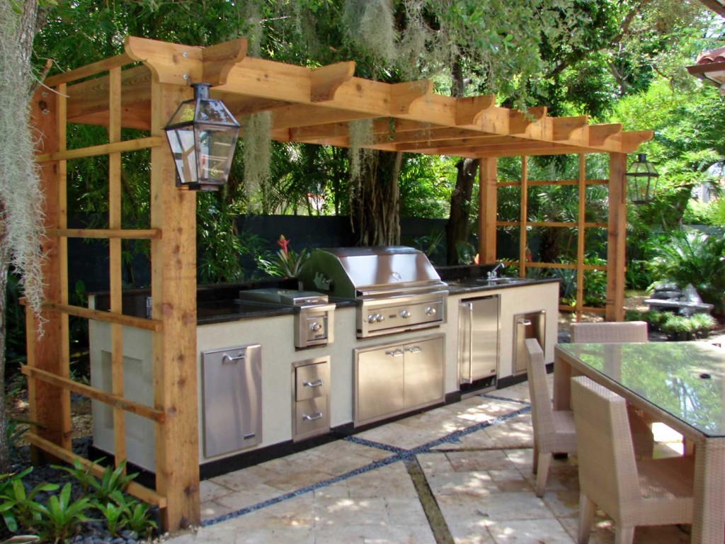 small outdoor kitchen ideas photo - 1