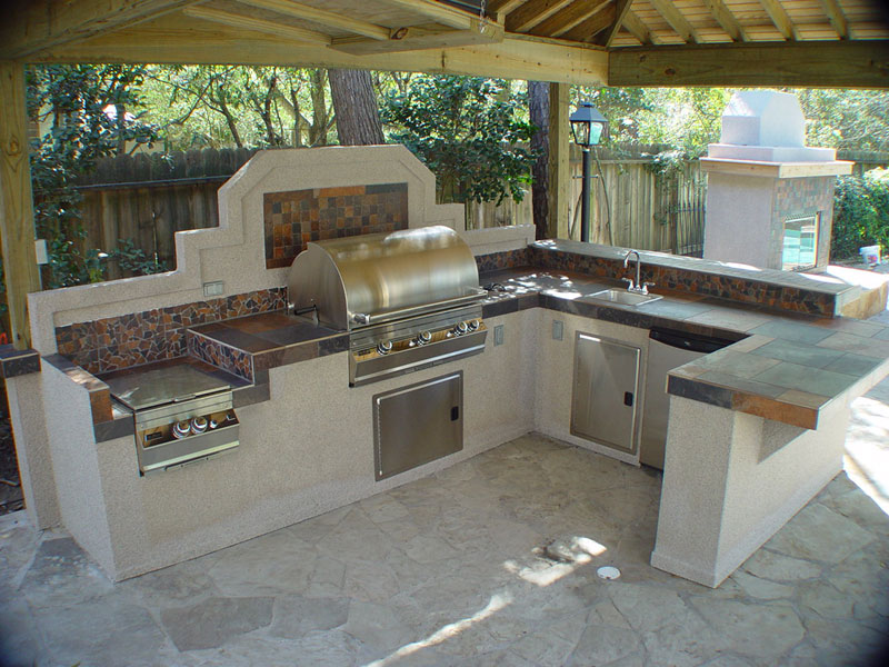 small outdoor kitchen plans photo - 2