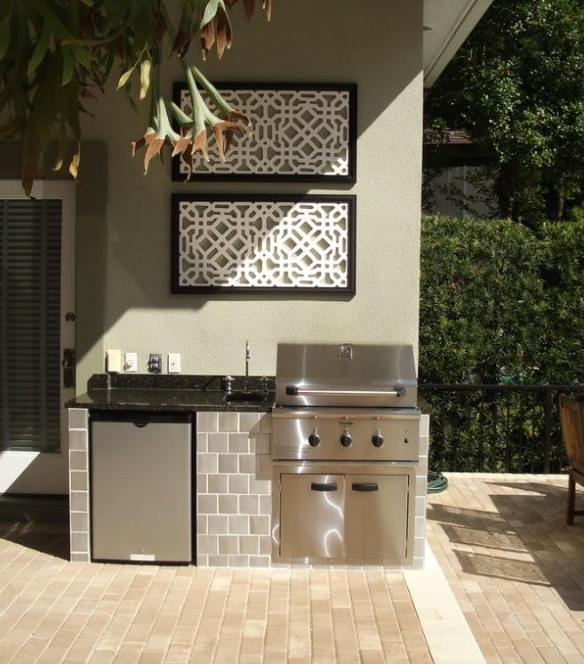 small outdoor kitchens photo - 2