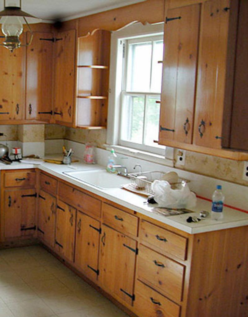 small square kitchen design photo - 1