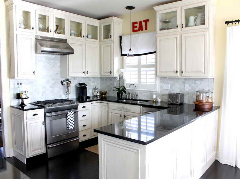 Small white kitchen designs