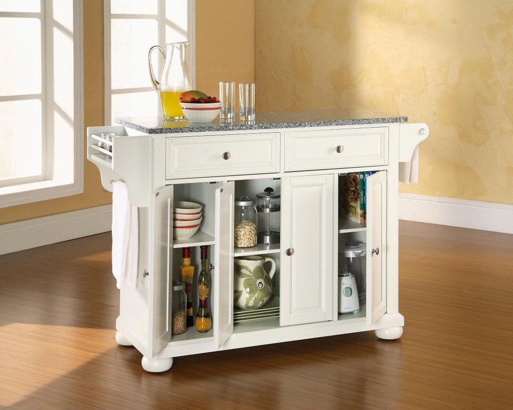 small white kitchen island photo - 2