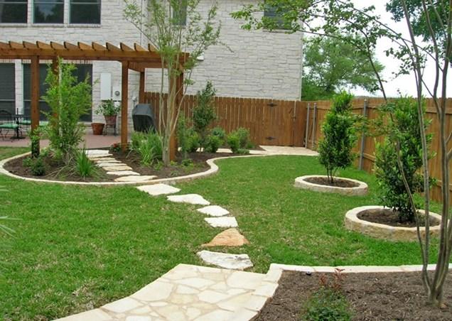 square backyard landscaping ideas photo - 1