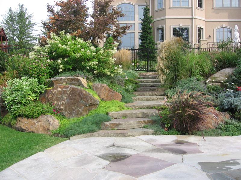 stone backyard landscaping photo - 1