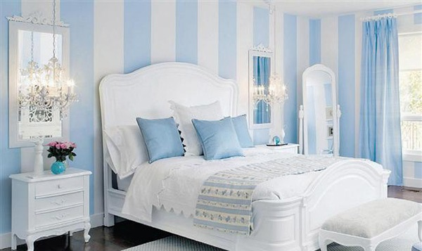 striped bedroom walls photo - 2