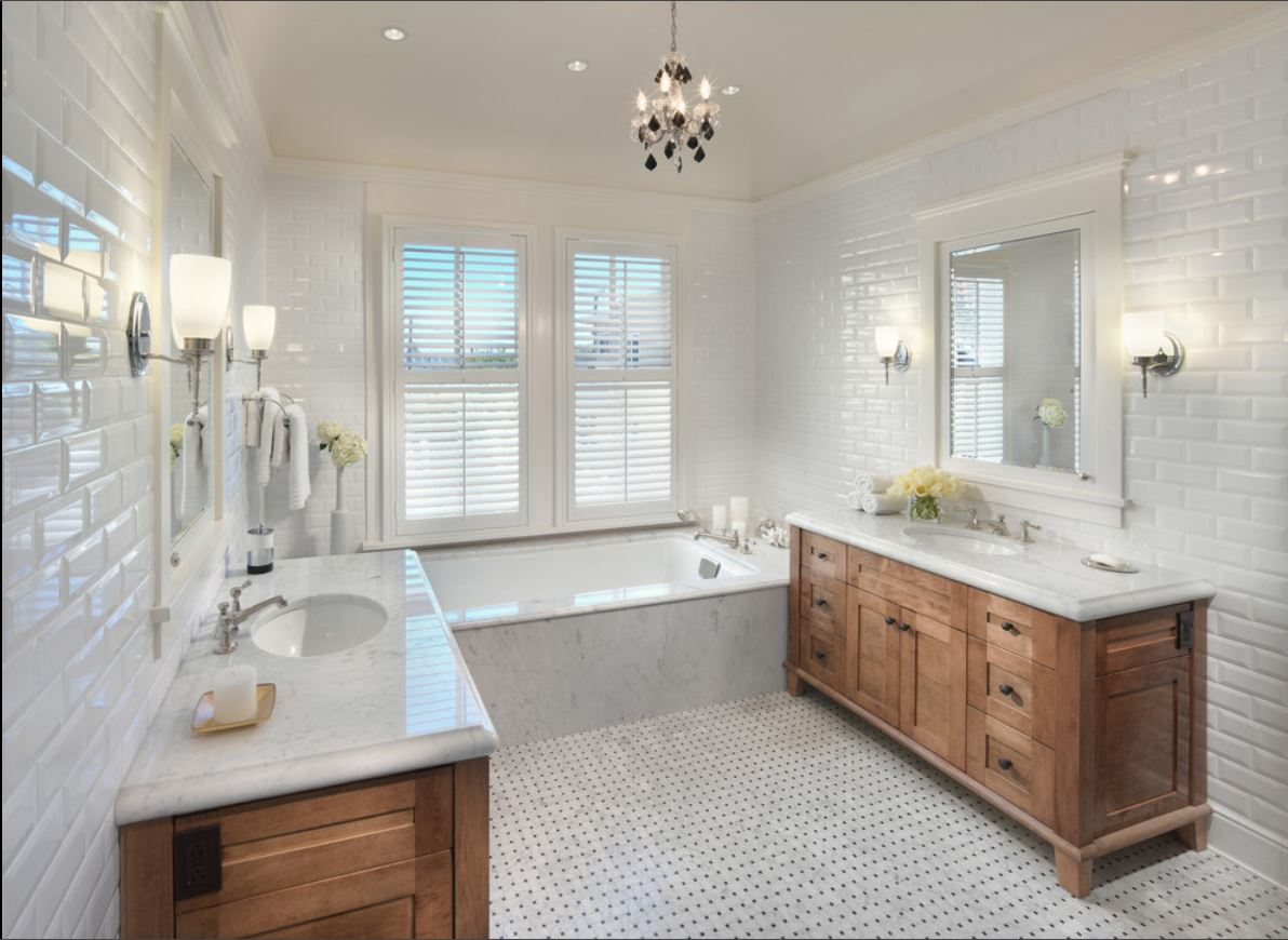 Subway tiles bathroom - large and beautiful photos. Photo to select ...