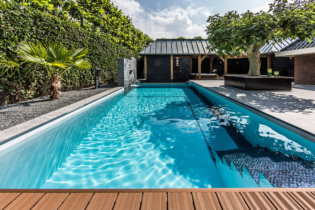 swimming pool in backyard photo - 1
