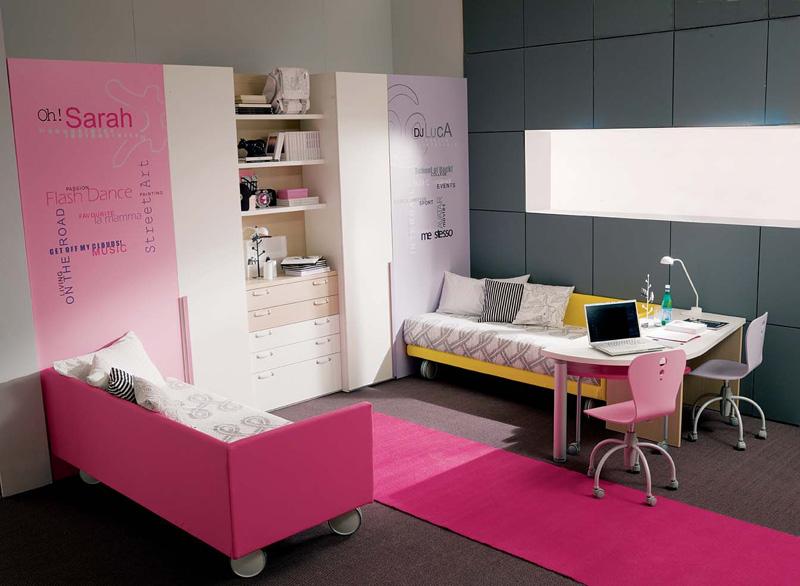 teen girl bedroom design photo - 2