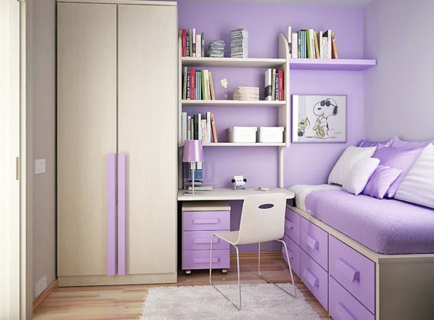 teenage girl bedroom ideas for small rooms photo - 1