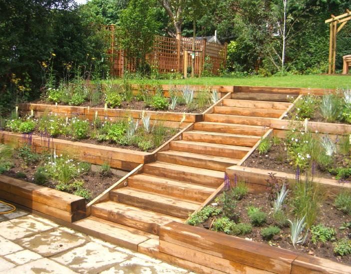 terraced backyard photo - 2