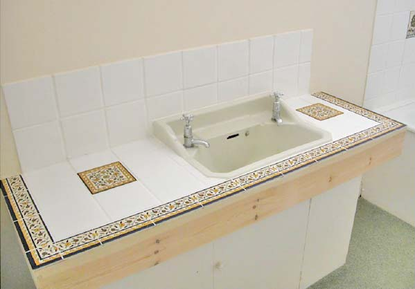Charmant Tile Bathroom Countertops