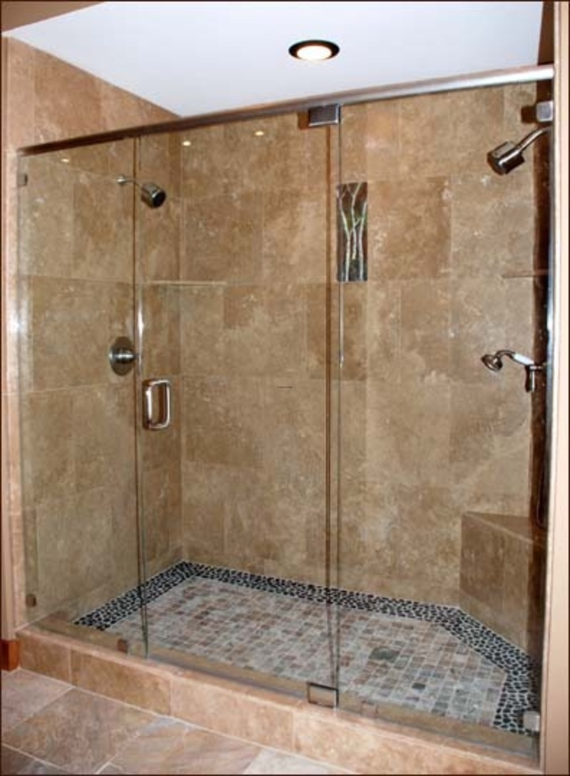 Tile shower ideas for small bathrooms large and for Small shower room designs pictures