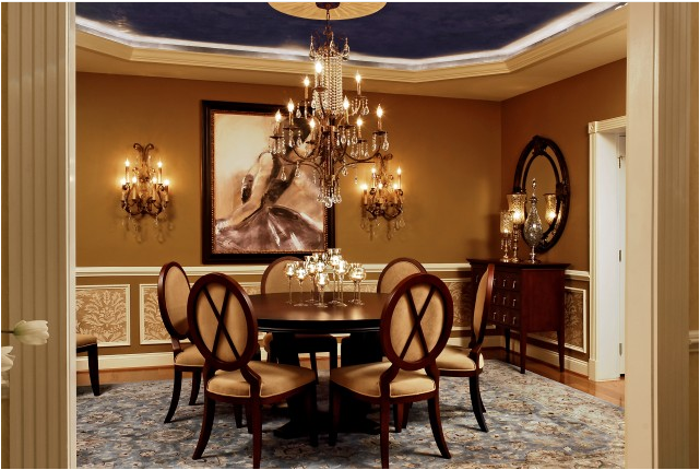 traditional chandeliers dining room photo - 2