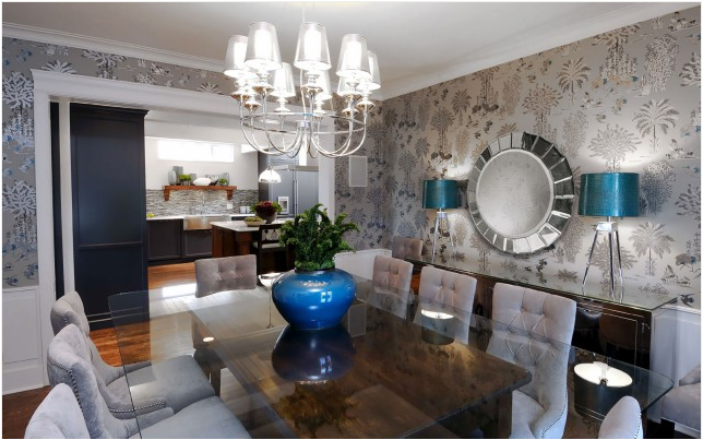 transitional dining room photo - 2