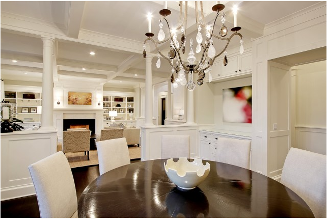 Transitional dining room ideas - large and beautiful photos. Photo ...